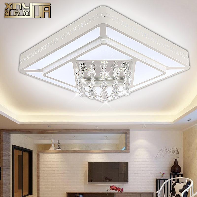 kristal geleid plafond licht minimalistische woonkamer verlichting ...