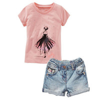 Little Models Kids Girls Clothes Set Clothing From Suppliers China