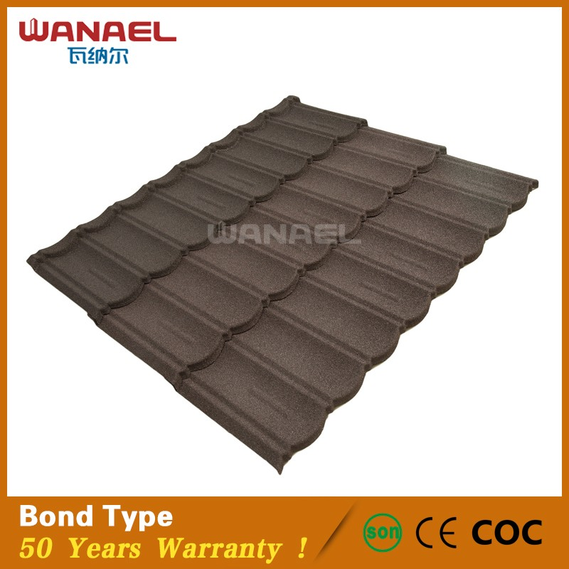 High Quality Bond Wanael Low Cost House Construction Material Stone Coated Metal Roof  Tile, Construction Materials Price