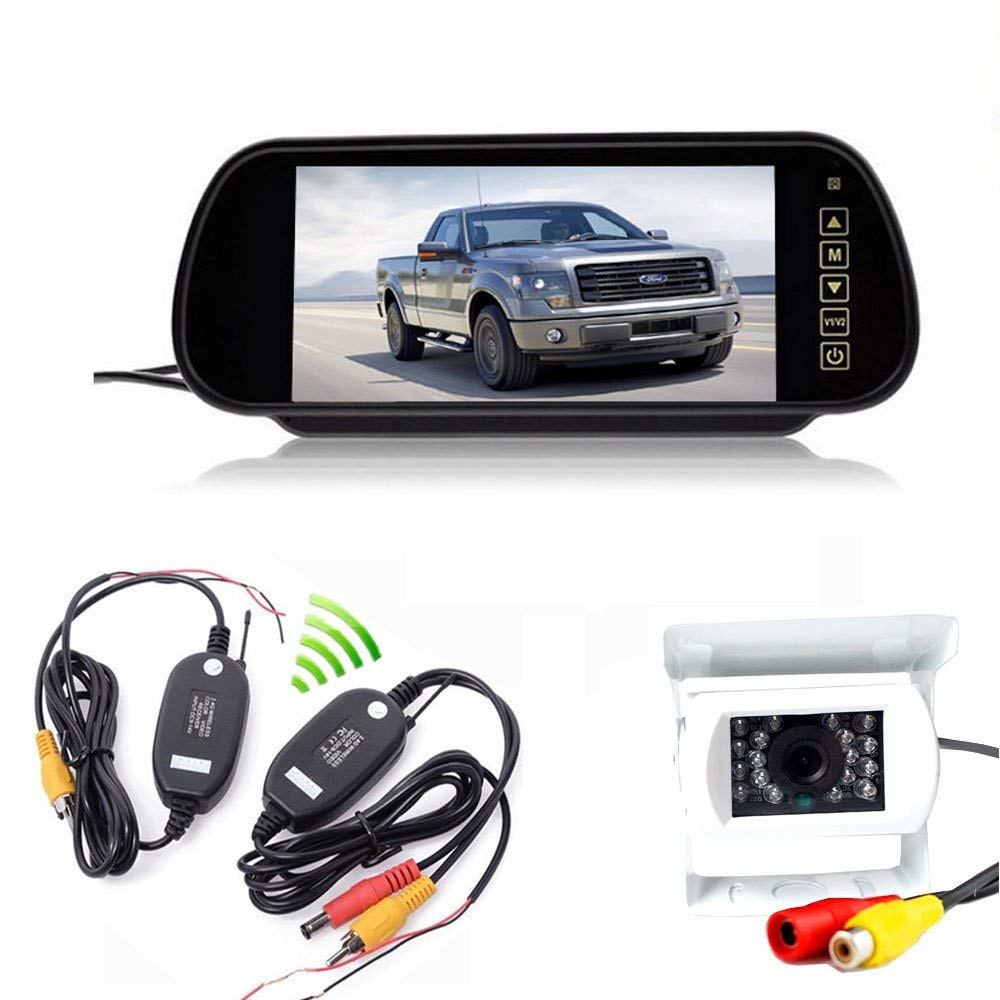 12v Car 2.4g Wireless Reverse Rear View Backup Camera Night Vision Parking Kit Car Video