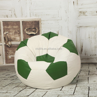 visi football shape bean bag chair,sports ball bean bag chair,polyseter bean bag