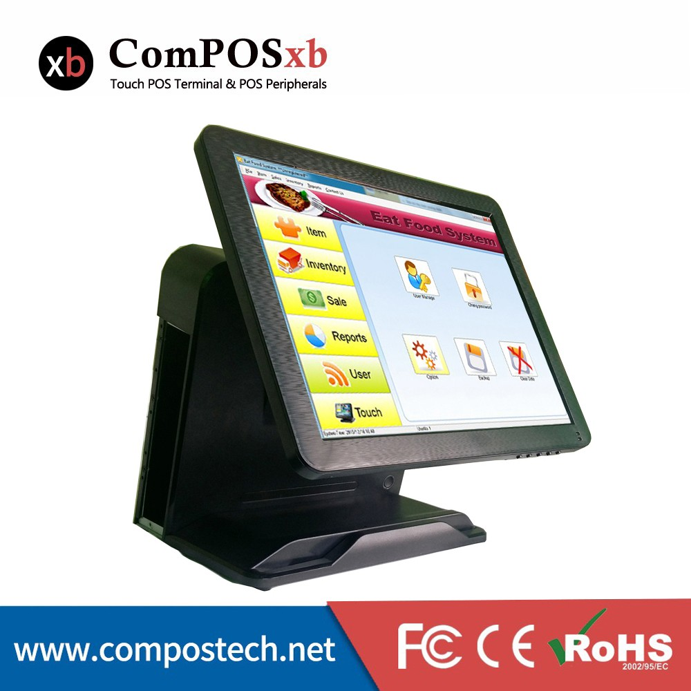 Pos Machine Price Touch Screen Monitor 15 All-in-One POS PC Terminal for Restaurant/Pizza Shop/Supermarket