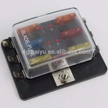 6 way led blade fuse box pos bus bar 12v car boat fusebox marine rh alibaba com