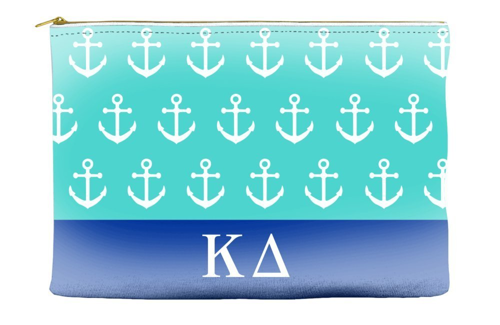 Kappa Delta Anchors Teal Cosmetic Accessory Pouch Bag for Makeup Jewelry & other Essentials