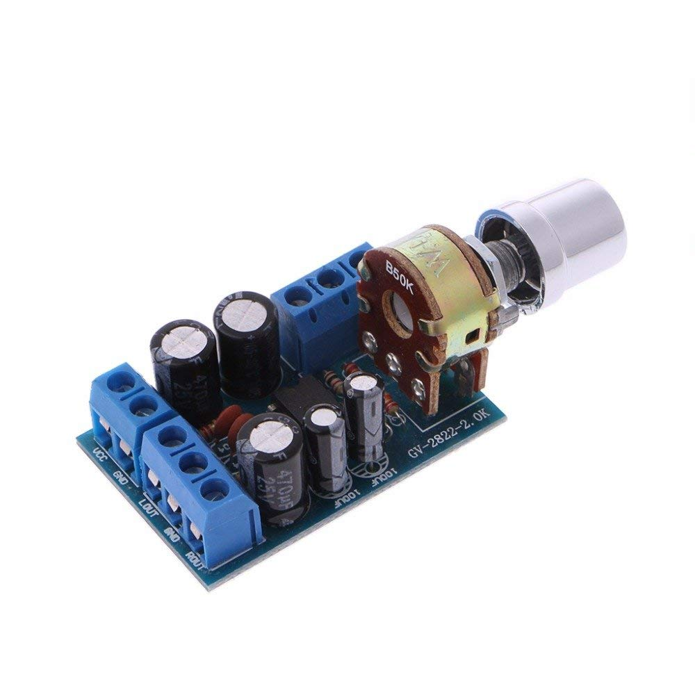 Cheap Tda2822m Amplifier Circuit Find Tda2822 Get Quotations Poying Dc 18 12v 1wx2 20 Channel Stereo Audio Power Board