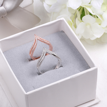 Double Layers Crystal Clear Zircon Princess Crown Shape Sterling 925 Silver Rings for Women Wedding Fancy Jewelry