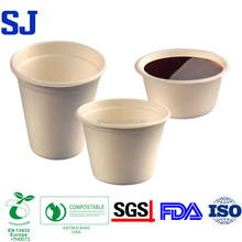 Sugarcane Bagasse Wheat Straw Microwavable Ovenable Biodegradable Disposable Paper Coffee Cup
