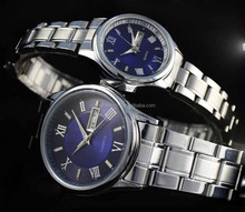 Men's Standard Stainless Steel quartz Day Date Watch with blue dial