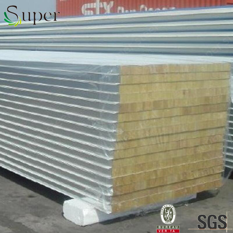 Polyurethane(PU)/EPS/ROCKWOOL Sandwich Panel For Wall/Roof