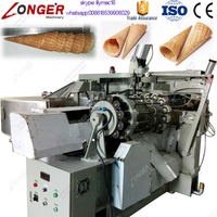 Factory Supply Most Advanced and Easy Operate Automatic Commercial Ice Cream Sugar Cone Making Machine