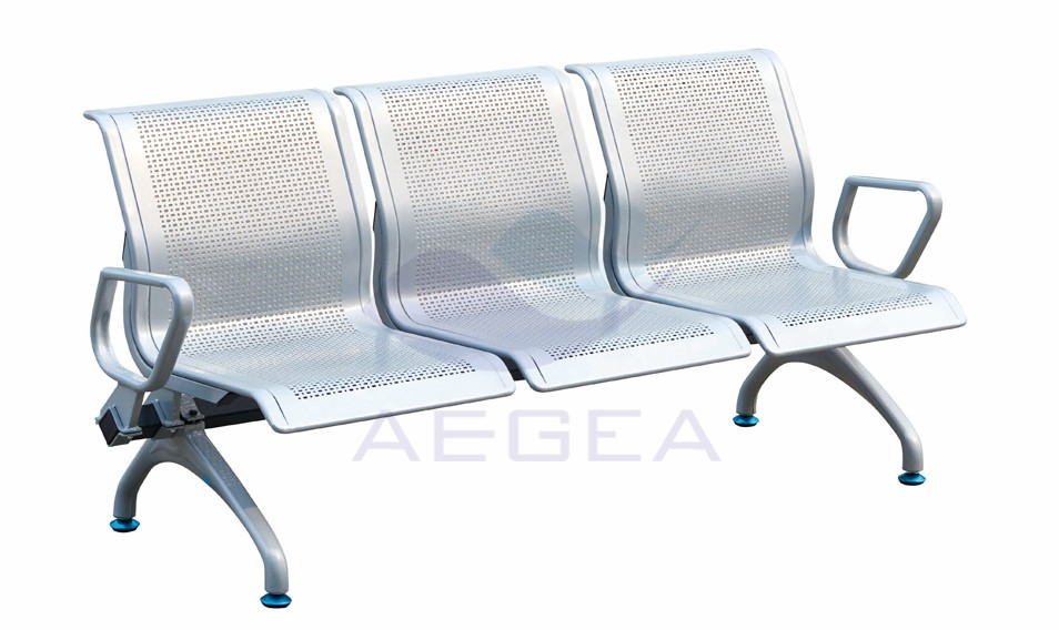 AG-TWC004 popular wide used metal hospital waiting chair rest for elderly