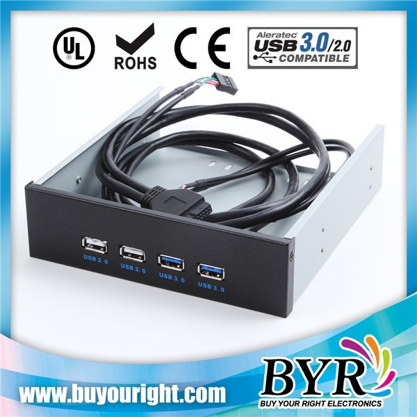 USB 2.0 port and usb3.0 port for pc case front panel mounted cable