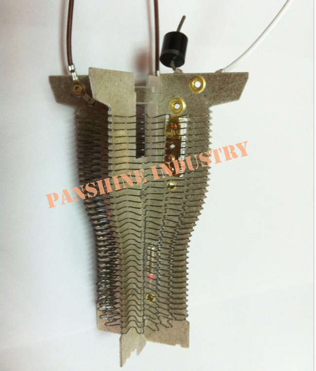 Mica heating element for hair dryer