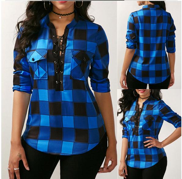 Blusas de Cuadros ❤️ | Camisas de Cuadros para Mujer |
