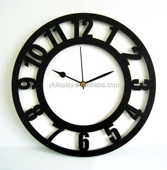 hot sale custom smart acrylic wall mounted clock movement