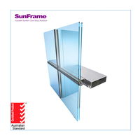 Aluminum Glass Window Curtain Wall System Detail Dwg