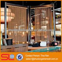 Absorbing decorative aluminum salon divider