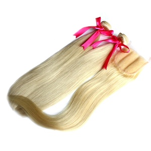 Large Stock Mink Virgin Hair Ear To Ear Blonde 4*4 Lace Closure