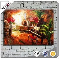 China supplier manufacture best choice piano still life custom handmade oil painting