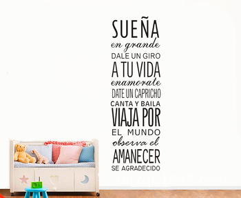 Sps 23 Spanish Inspirational Positive Quotes Vinyl Wall Sticker