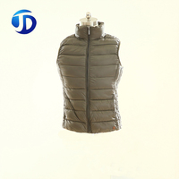 Custom Wholesale Outdoor Casual Winter Warm Quilted Mens Down Sleeveless Vest Waistcoat