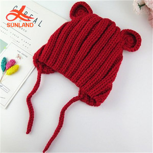 8cf1370a216 Cotton Baby Hats With Ear Flaps