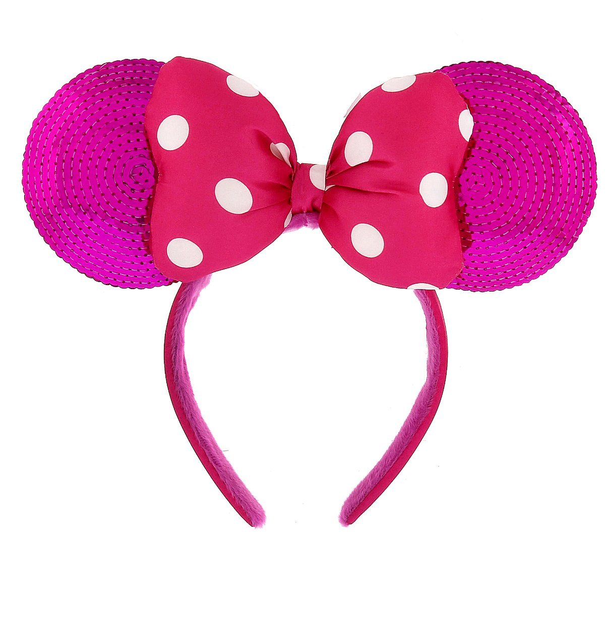 Buy Disney Theme Parks Minnie Mouse Sequin Headband Pink Ears in ... 06fd3895ef6a5