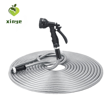 Wholesale expanding watering hose 304 Stainless steel metal Garden hose with aluminum connector