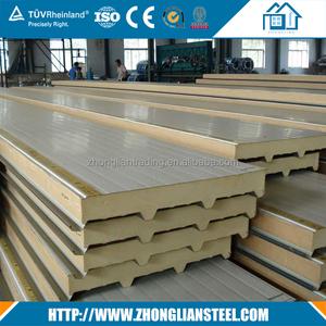 Construction cheapest cold room wall roof sheet pu polyurethane foam  aluminum sandwich panel