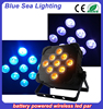 Hot sale indoor led par cans 9x18w 6in1 flat slim size led bar stage led par light