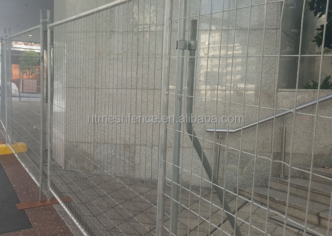 Temporary Galvanized Construction Zone Safety Fence Panel