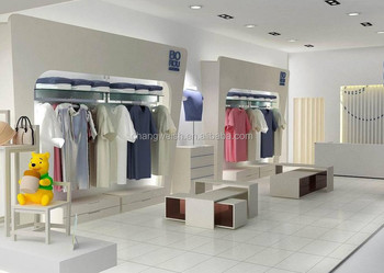 Hot shop interior design shop design clothing rack shop shelves for clothing store buy shop for Clothing store interior design pictures