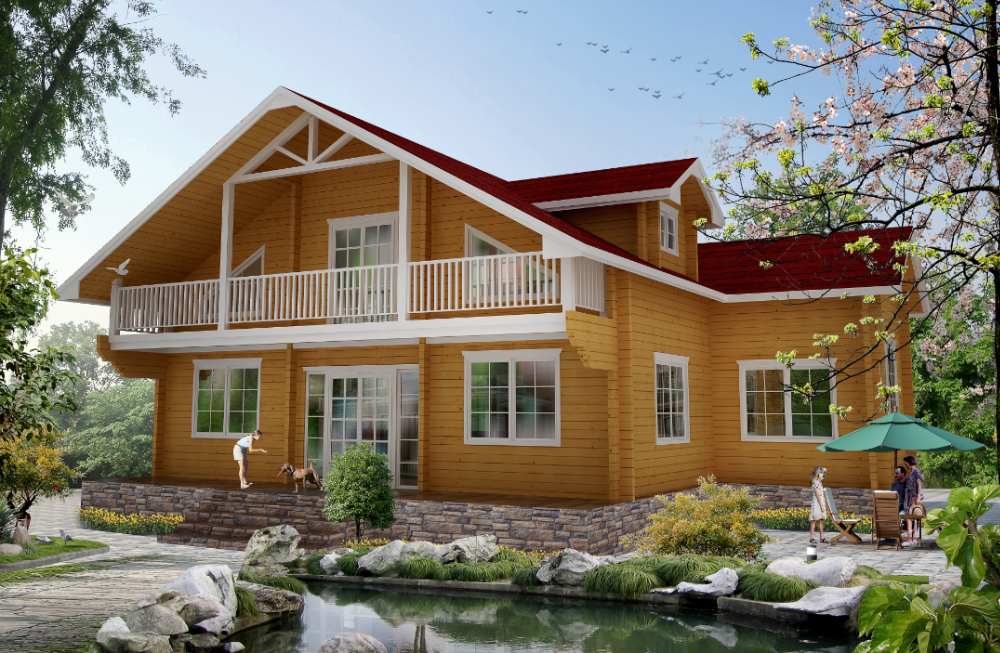 Hot selling prefabricated log cabin log home wood house for Selling a log home