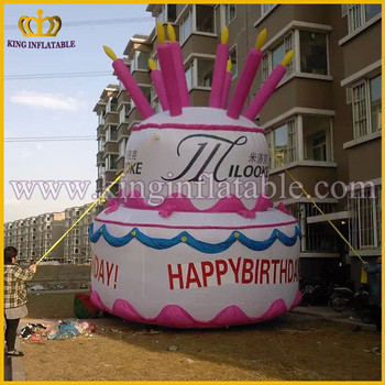 Outstanding Customized Party Decoration Giant Inflatable Birthday Cake Model Funny Birthday Cards Online Unhofree Goldxyz