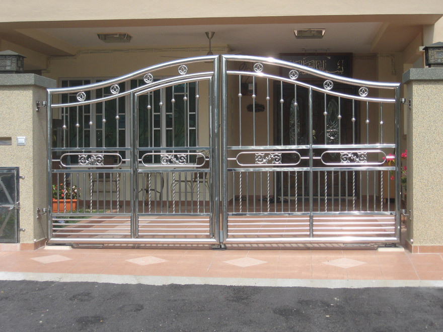 Stainless steel main gate design buy cheap sliding gate for Home gate design