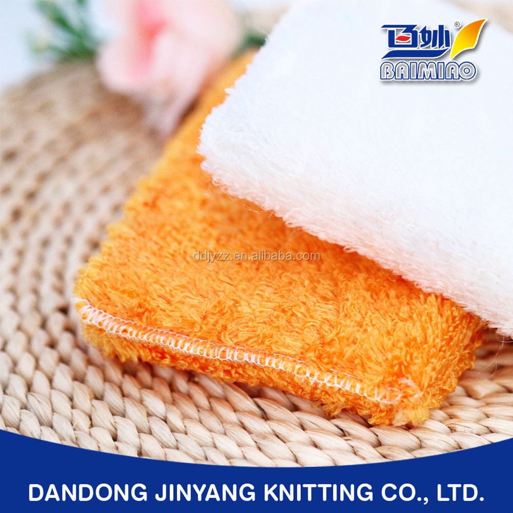 home wiping bamboo or plant fiber customized warp knitting super absorbent white kitchen sponges