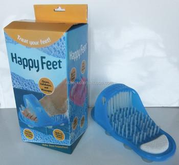 Nice Easy Feet Foot Scrubber Bath Shower Scrub Brush Pumice Stone