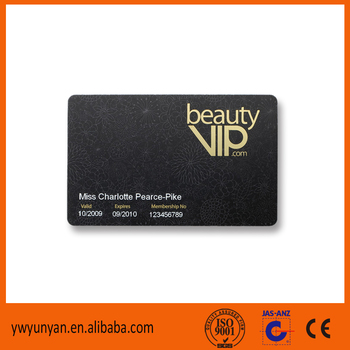 Best Customized Printed Free Sample Available Plastic Club Vip Gym ...