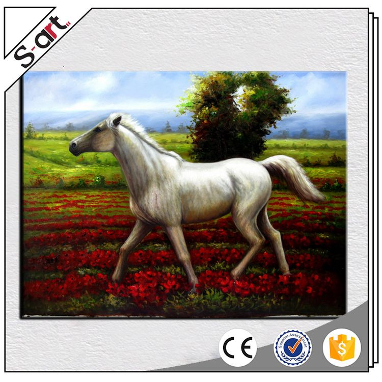 China manufacturer fashion abstract animal horse oil painting