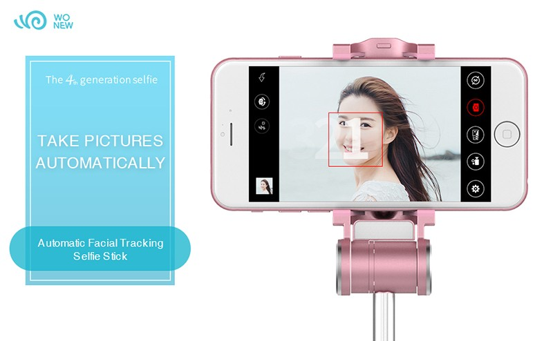Best And First Face Tracking Bluetooth Monopod Automated Selfie Stick
