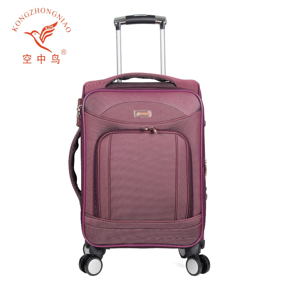 2017 hot selling nylon rolling spinner trolley luggage soft nylon travel luggage 4piece set wheeled luggage suitcase
