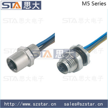 Binder 707 Male Pin M5 Connector