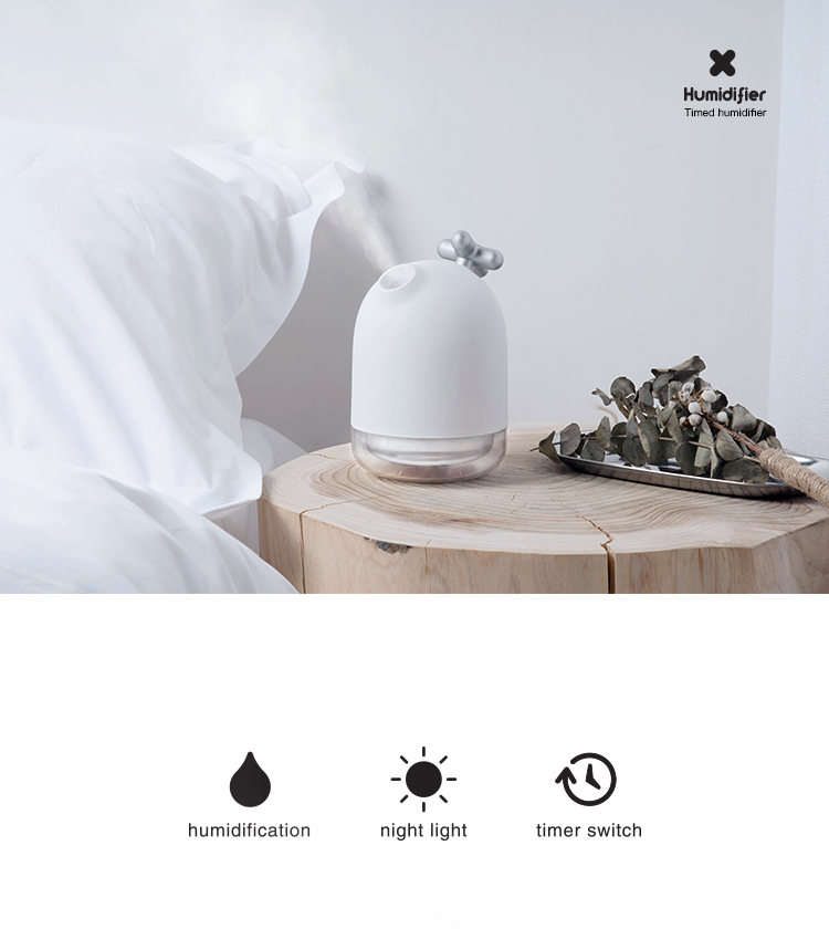 JANPIM Wholesale Portable Anti-leak 200ml Time USB Mini Air Humidifier For Personal Use Car Use Office Use
