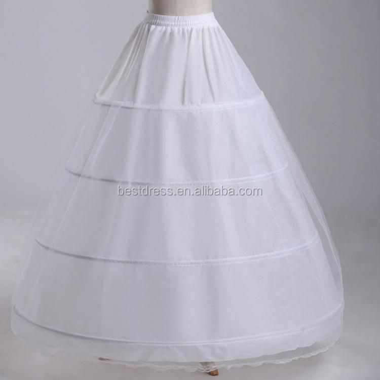 4 Hoop Ball Gown Full Crinoline Petticoat For Women Wedding Skirt