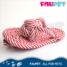 Reasonable & acceptable price knot pet toys soft knit cotton rope slipper toy