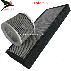 Custom cheap price cylindrical nonwoven carbon air filter for home, pleated activated carbon air filter cylinder cartridge