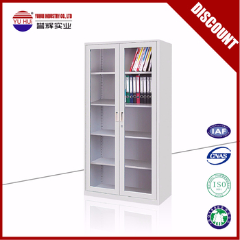 Durable Tall Bookcase With Glass Door Wall Mounted Bookcase