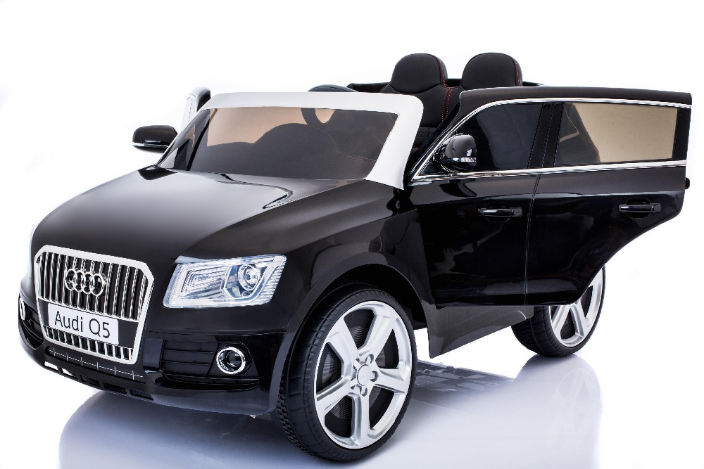 2017 Newest AUDI Q5 Licensed operated toy car, double open doors and 2.4G RC rechargeable battery operated toy car