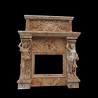 Western style Indoor decoration exquisite marble fireplaces surround