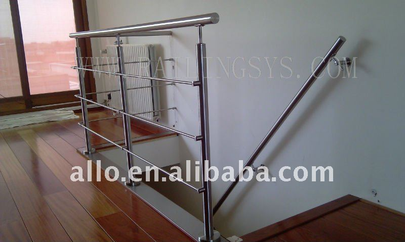Stair Railing Stainless Steel Handrail Cross Bar Holder In Balustrade U0026  Staris Wall Sign Standoff